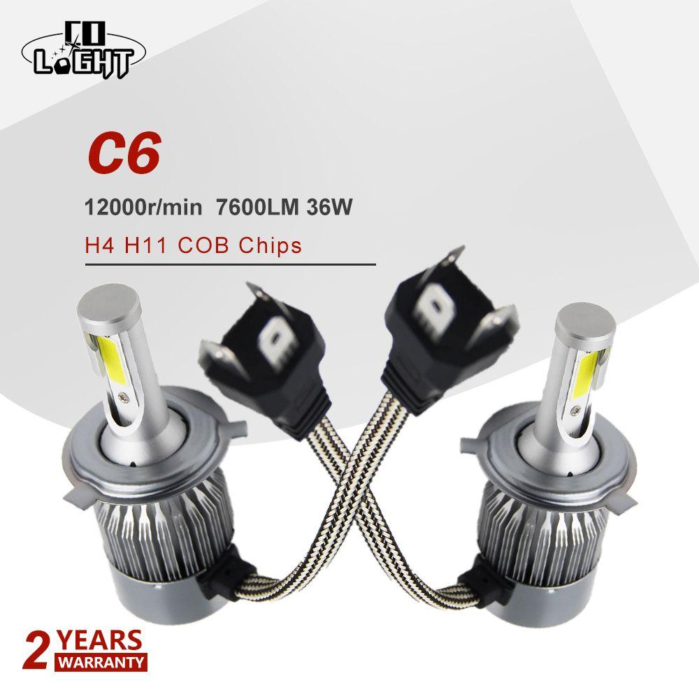 CO LIGHT H4 Led 36W Head Lamp H11 Running Lights 7600Lm 6000K Light Bulbs For Auto Vaz 2109 2115 Lada Niva Toyota Nissan Honda