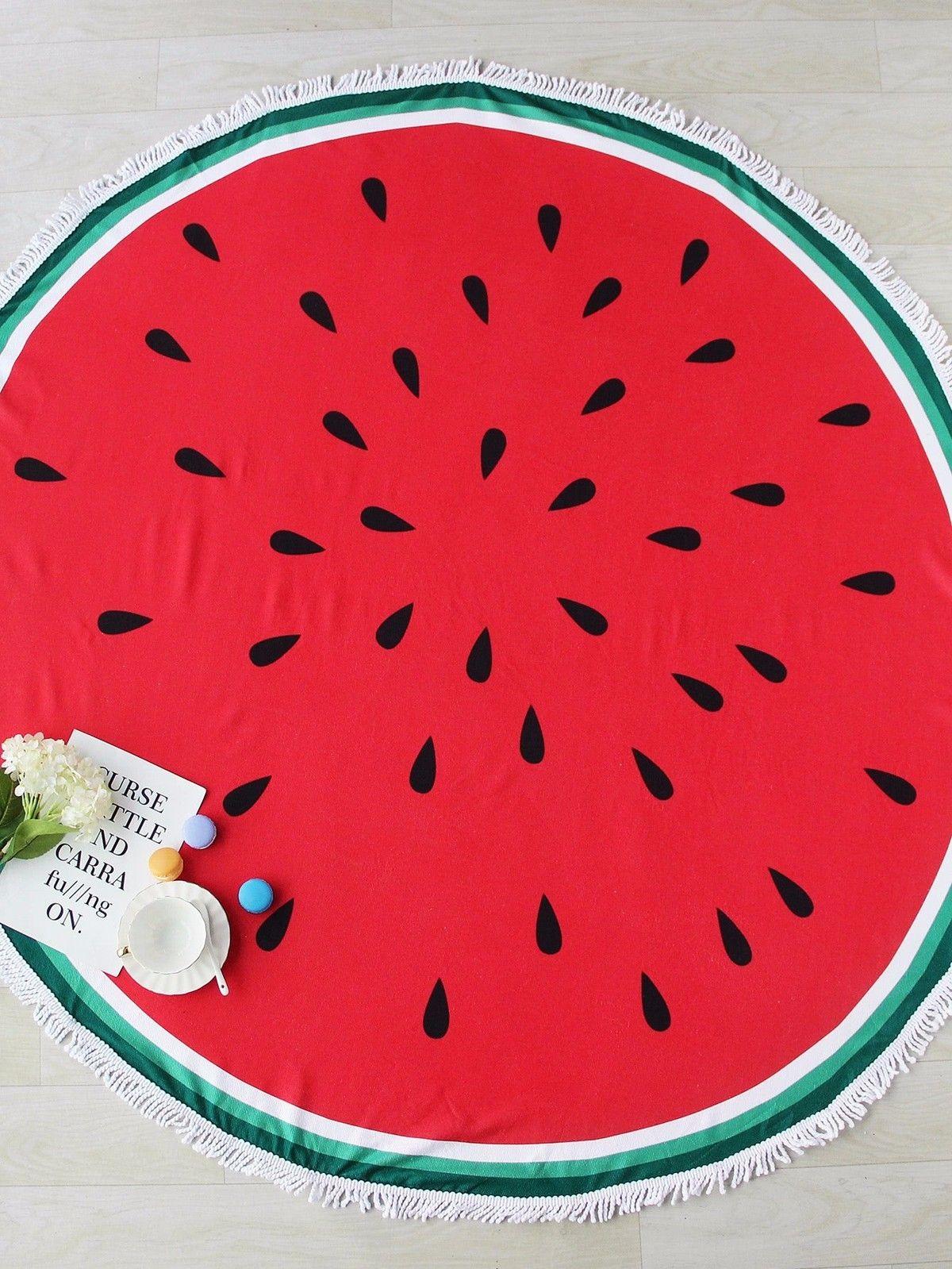 Beignet Pizza ananas grand rond microfibre Serviette De Plage cercle glands pastèque Hamburger coton tapis De bain Serviette De Plage
