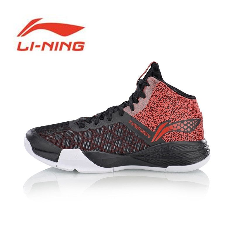 Li Ning Men's STORM On Door Basketball Shoes LiNing Cloud Breathable Cushioning Sneakers Sports Shoes ABFM005