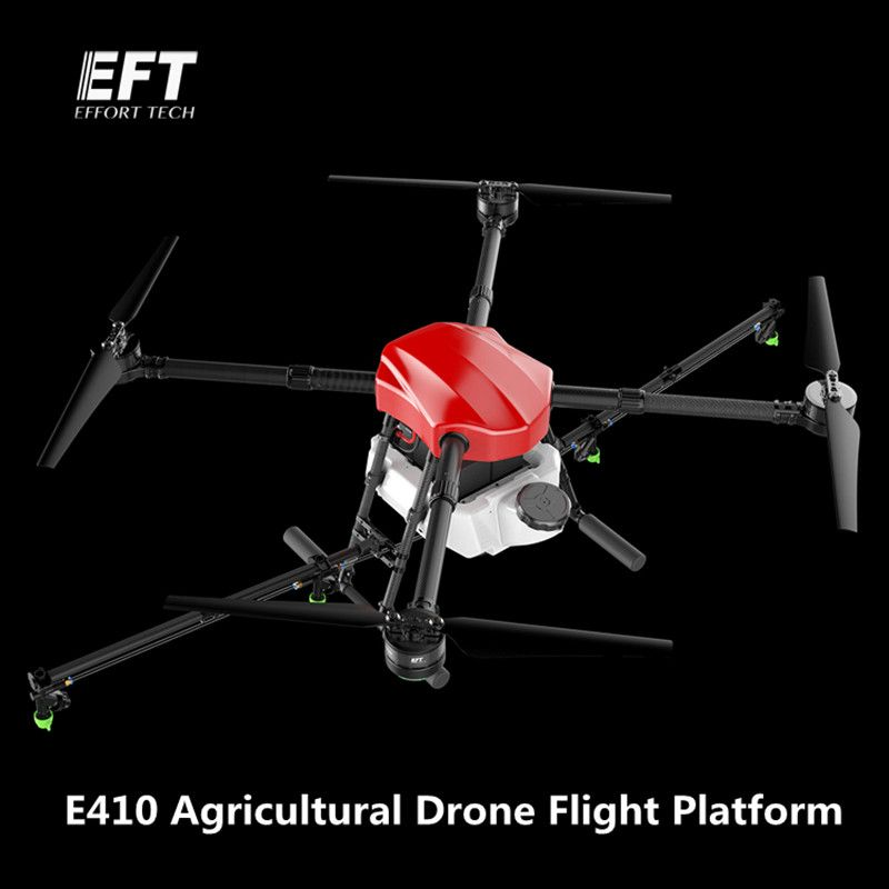 EFT E410 1300mm Wheelbase waterproof agricultural spraying drone flight platform 10KG/10L Folding UAV Quadcopter