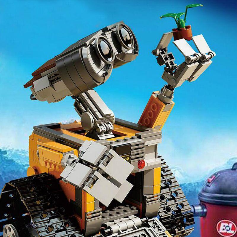 2018 New 16003 Idea Robot <font><b>WALL</b></font> E Building Blocks Compatible Lepin Figures Bricks Blocks Toys for Children <font><b>WALL</b></font>-E Birthday Gifts