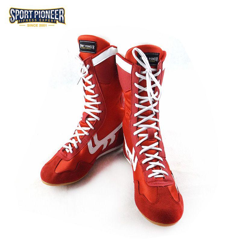 Chaussures de boxe professionnelles antidérapantes avec cheville protégeant les baskets hautes pour hommes et femmes