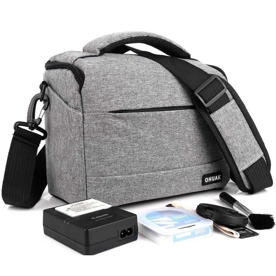 Photographie DSLR caméra sac étui Polyester sac à bandoulière pour Canon EOS 200D 100D 77D 600D 700D 750D 6D 60D 1300D 1200D sac Photo