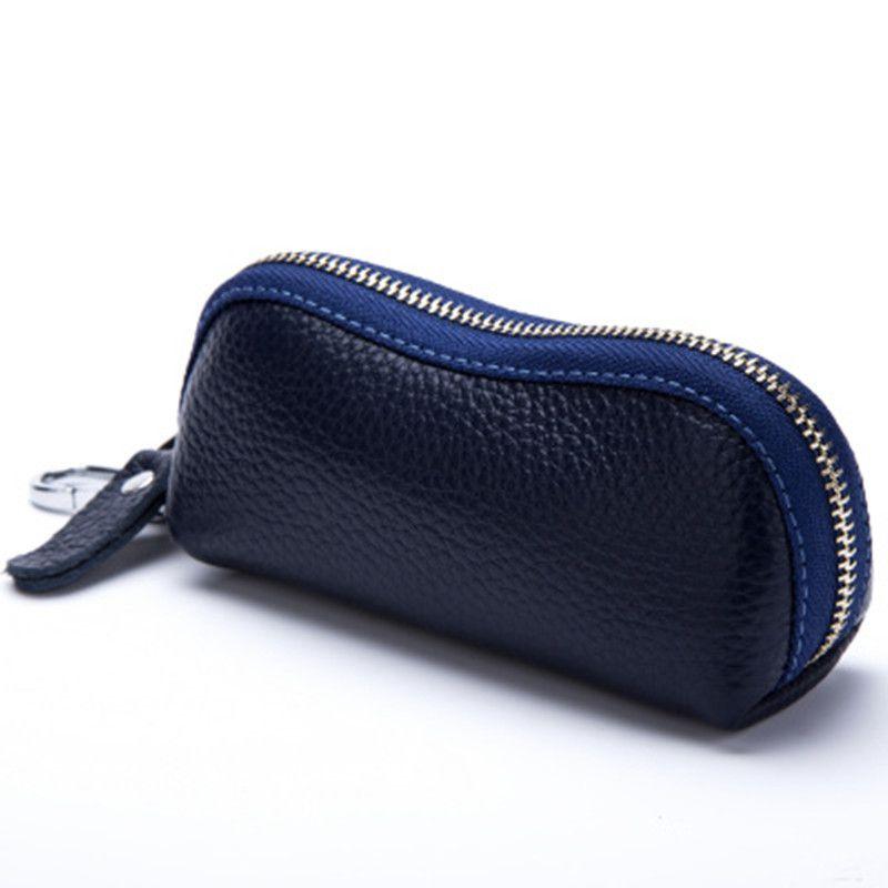 2015 nouveau femmes hommes en cuir de vachette portefeuille en cuir à fermeture à glissière sac voiture clé portefeuilles mode multifonction gouvernante titulaires livraison gratuite