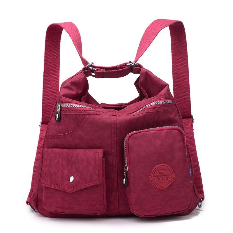 JINQIAOER New Waterproof Women Bag <font><b>Double</b></font> Shoulder Bag Designer Handbags High Quality Nylon Female Handbag bolsas sac a main