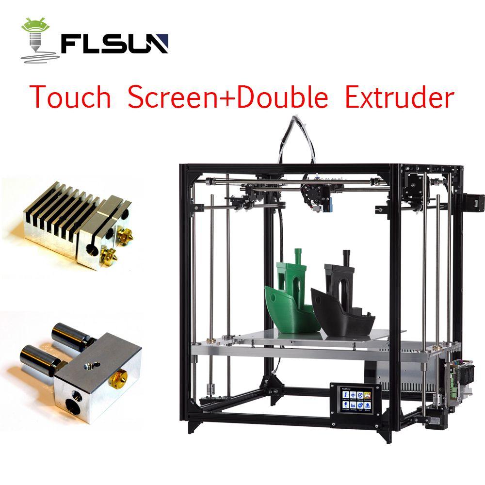 Flsun imprimante 3D haute précision grande taille d'impression 260*260*350mm 3d-imprimante Kit lit chaud un rouleau Filament carte Sd