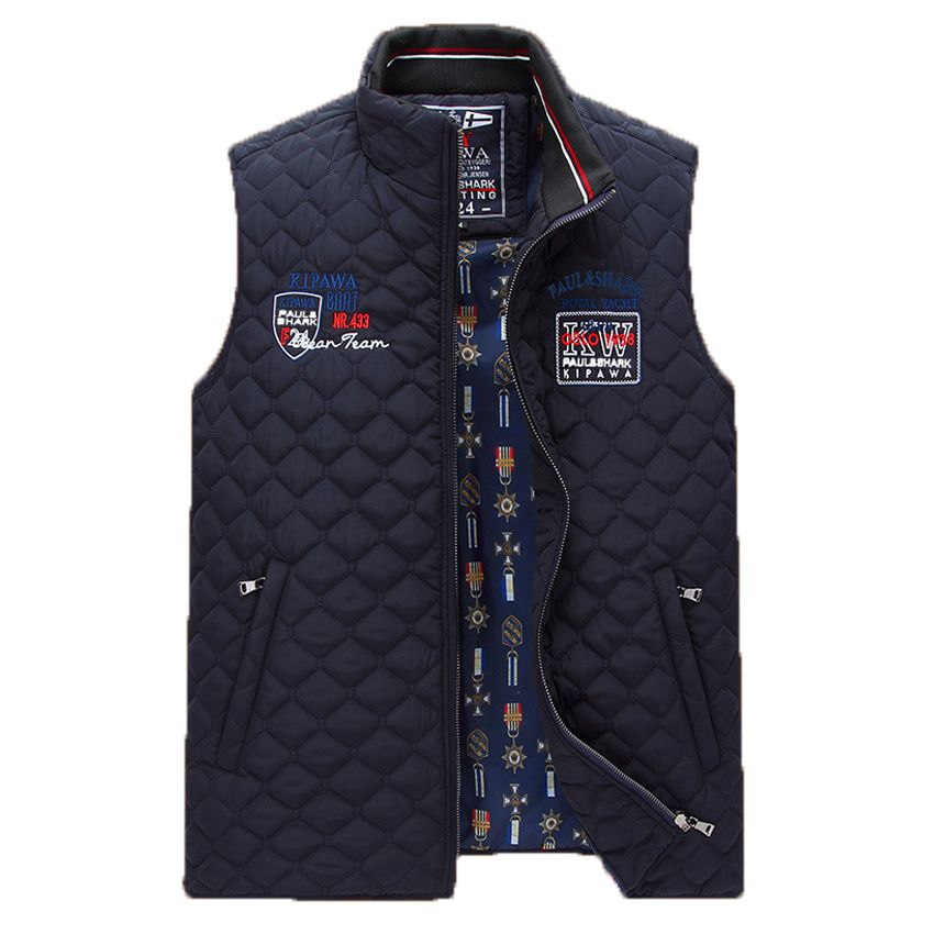2018 men's Autumn And Winter casual vest men fashion sleeveless high-quality Cotton thick vest new style stand collar vest 138