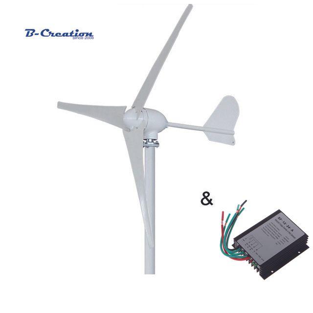 500 W 12 V/24 V/48 V 3/5 klingen horizontale wind turbine generator heimgebrauch + HOME VERWENDEN 600 w wasserdichte wind ladegerät controller