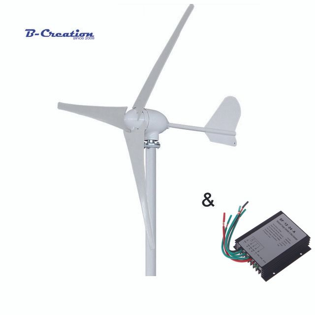 500W 12V/24V/48V 3/5 blades horizontal wind turbine generator home use + HOME USE 600w waterproof wind charger controller