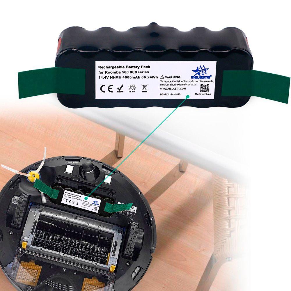 Melasta Classique 4.6Ah 14.4 V NIMH batterie pour iRobot Roomba 500 600 700 800 Série 510 530 550 560 610 620 650 770 780 790 870