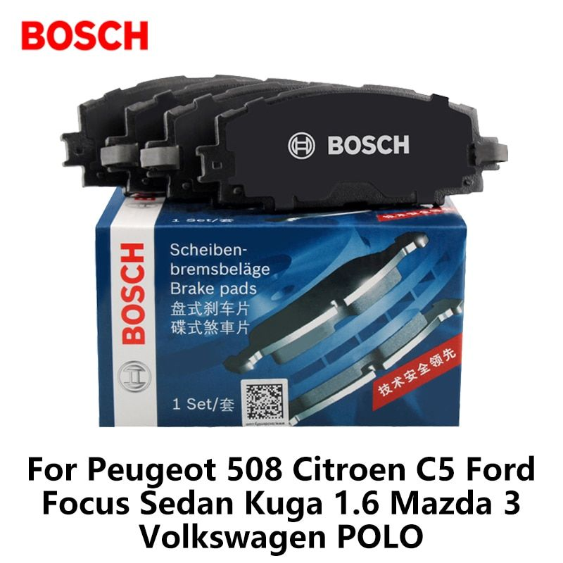 4pieces/set Bosch Rear Car Brake Pads For Peugeot 508 Citroen C5 Ford Focus Sedan Kuga 1.6 Mazda 3 Volkswagen POLO 0986ab1194