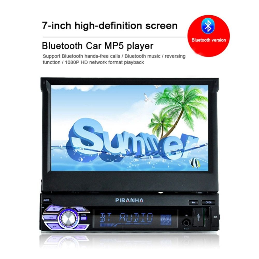 9601 7'' HD Bluetooth Touch Screen Autoaudio Car Stereo Radio auto audio High-definition Movies MP4 MP5 Player DVD