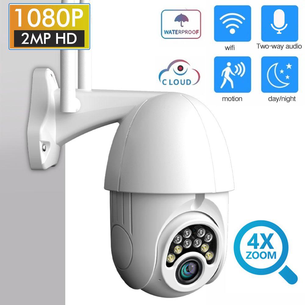 SDETER 1080P PTZ sécurité WIFI caméra dôme de vitesse extérieure caméra IP sans fil CCTV panoramique inclinaison 4X Zoom IR Surveillance réseau 720P