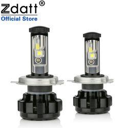 Zdatt 100W 14000LM H4 Car Led Headlights H7 H8 H11 9005 HB3 9006 HB4 Canbus Built-in Decoder Error Free Auto Bulb 12V Headlamp
