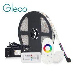 LED BANDE Kit DC12V LED Bande 5050 60LED/m 5 M avec 2.4G RF LED Contrôleur 12 V Alimentation 5050 LED Bande RVB RGBW RGBWW MTE