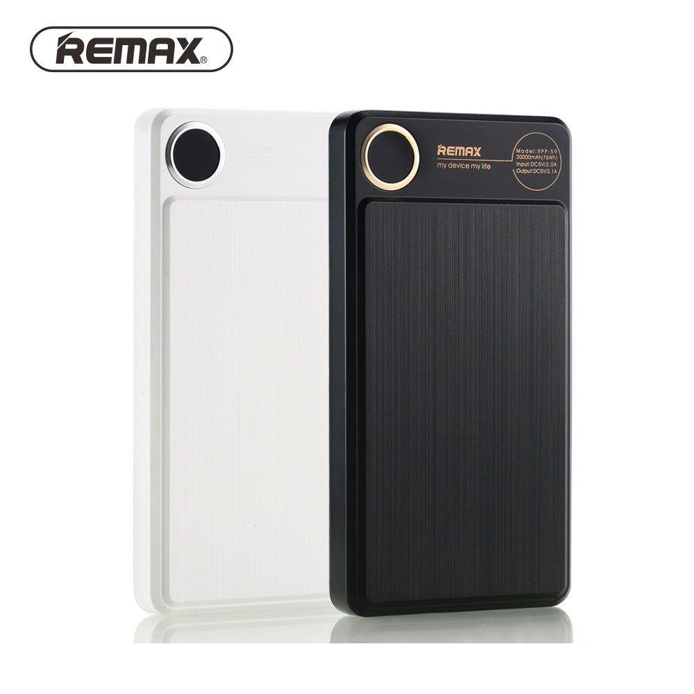 Remax Original LCD energienbank 20000 mAh Dual USB Portable Lade Handy Tablette Externes Ladegerät Proda Power