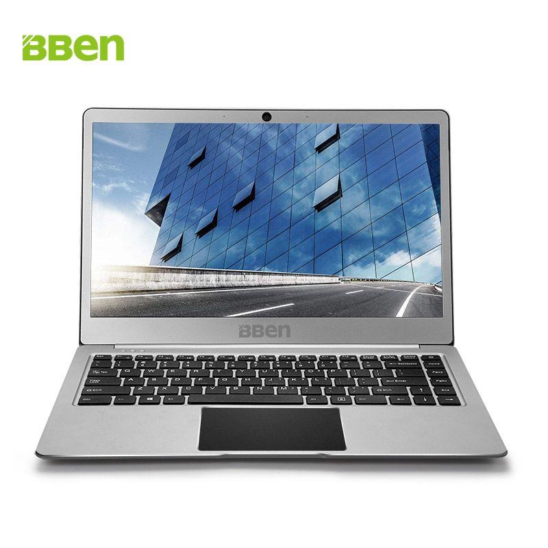 Bben N14W 14 zoll Windows 10 ultrabook notebook Laptop Fanless 4 gb Ram 64 gb Emmc SSD Option USB3.0 Intel Apollo n3450 CPU webcam
