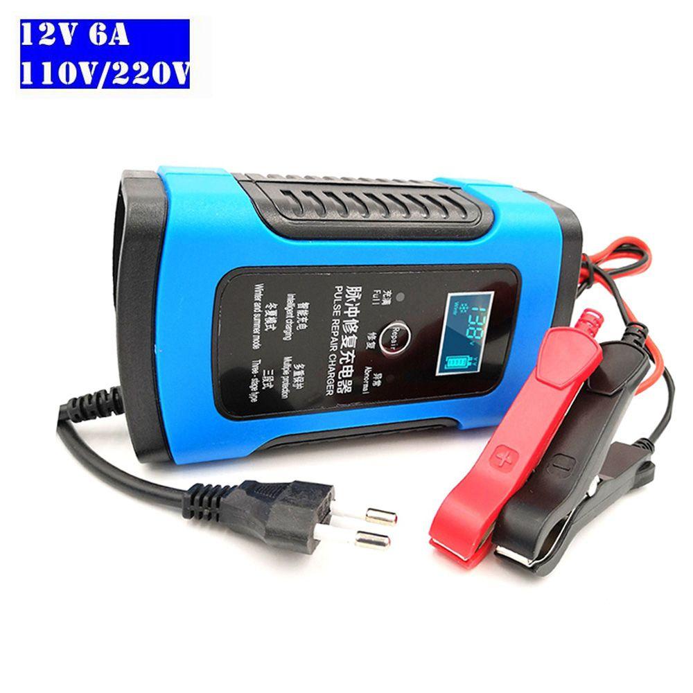 12 V 6A Batterie Ladegerät Automatische Betreuer Tragbare Smart Blei Säure Batterien Power Lade Adapter Für Automotive Lkw Auto