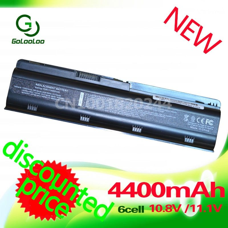 Golooloo <font><b>Laptop</b></font> battery for HP PAVILION G6 G61 G7 DM4 DV3 DV5 DV6 DV7 G4 for Compaq Presario MU06 CQ42 CQ43 CQ62 CQ72 593553-001