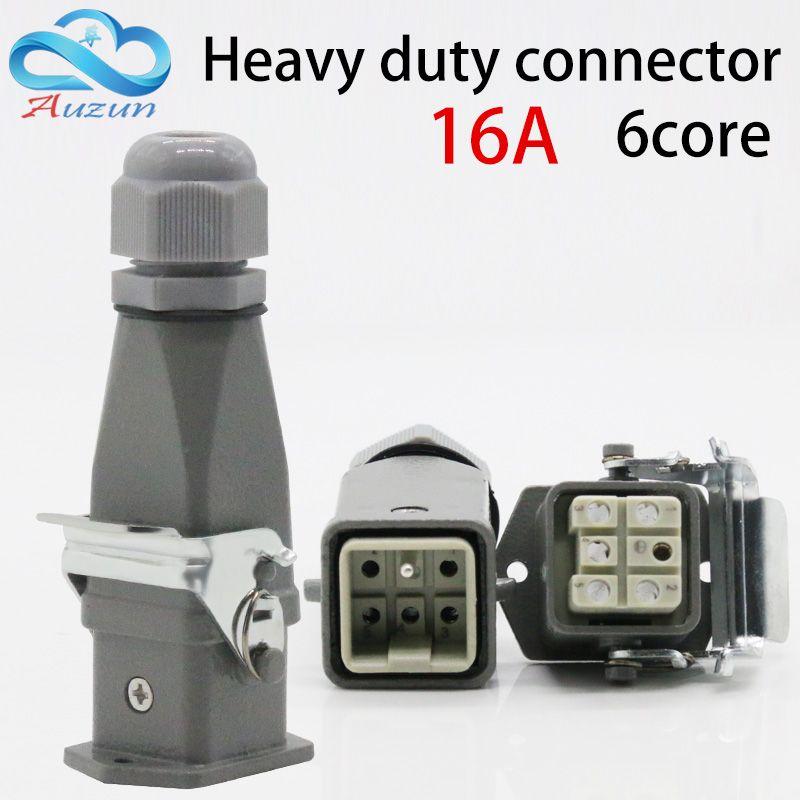 Connecteur robuste 6 (5 + 1) core 16A 500 V-006-2 ligne supérieure de connexion à froid à canal chaud
