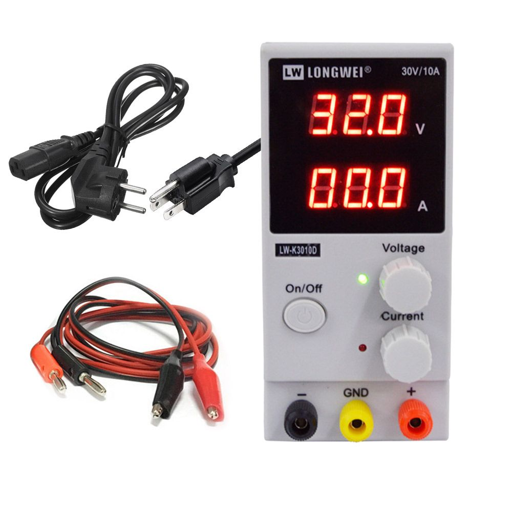 LW 3010D DC Power Supply Adjustable Digital Lithium Battery Charging 30V 10A Switch Laboratory Power Supply Voltage Regulator
