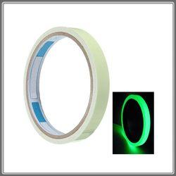 10 M * 12mm luminoso Cintas autoadhesivo foto luminiscentes Cintas resplandor en la oscuridad salida Seguridad marca brillante decoración casera verde