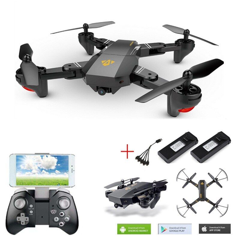 Selfie Drone With Camera Visuo Xs809hw Xs809w Fpv Quadcopter Rc Drone 4ch Helicopter Remote Control Toy For Kids Foldable Drone