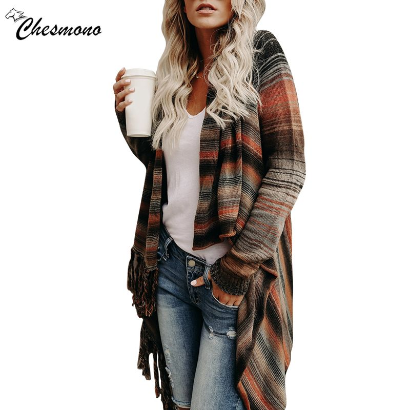 Spring and autumn Fashion Pull Pullover Cardigan Womens Ponchoes capes sweater Sleeve Casual cape Tassel Sweaters Pullovers tops