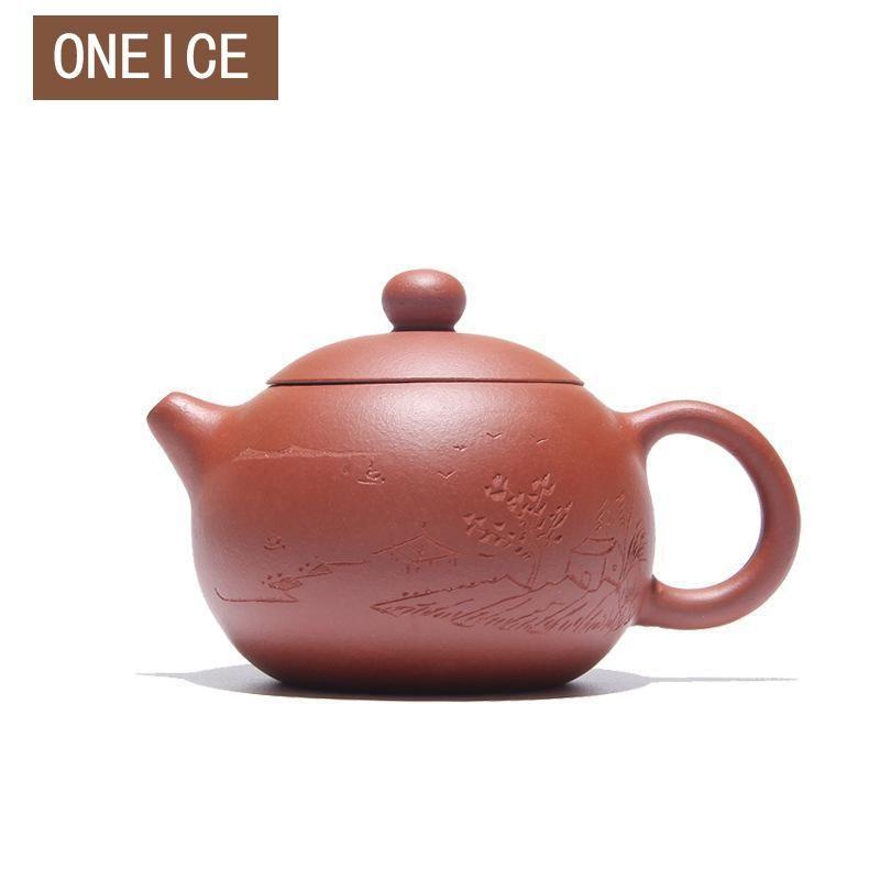 Yixing Hand made Xi Shi pot Qing Cement Tea set teapots Author Zhou ting 180ML Handmade Chinese Gongfu Tea