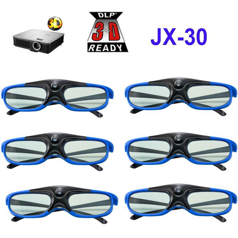 Obturateur actif 96-144HZ lunettes 3D rechargeables pour BenQ Acer X118H P1502 X1123H H6517ABD H6510BD projecteur Optoma JmGo V8 XGIMI