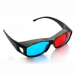 2PCS Red-blue / Cyan Anaglyph Simple Style 3d Glasses 3d Movie Game-extra Upgrade Style