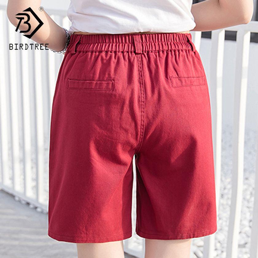 Grande taille 3XL femmes Shorts couleur bonbon mode coton poche droite Feminino femme vêtements dames décontracté kaki court femme