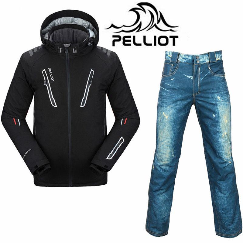 Professionelle Pelliot Ski Anzug Männer Wasserdichte Snowboard Jacke Ski Hosen Super Warm Atmungsaktiv Snowboarden Anzüge Outdoor Skifahren