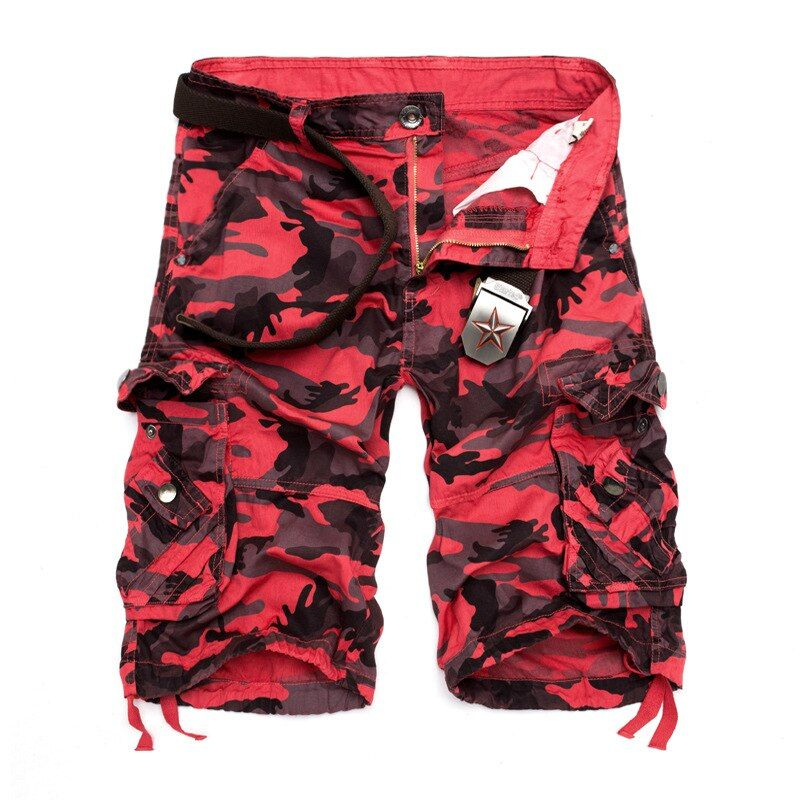 US Size 2018 New Camouflage Loose Cargo Shorts Men Cool Summer <font><b>Military</b></font> Camo Short Pants Homme Cargo Shorts