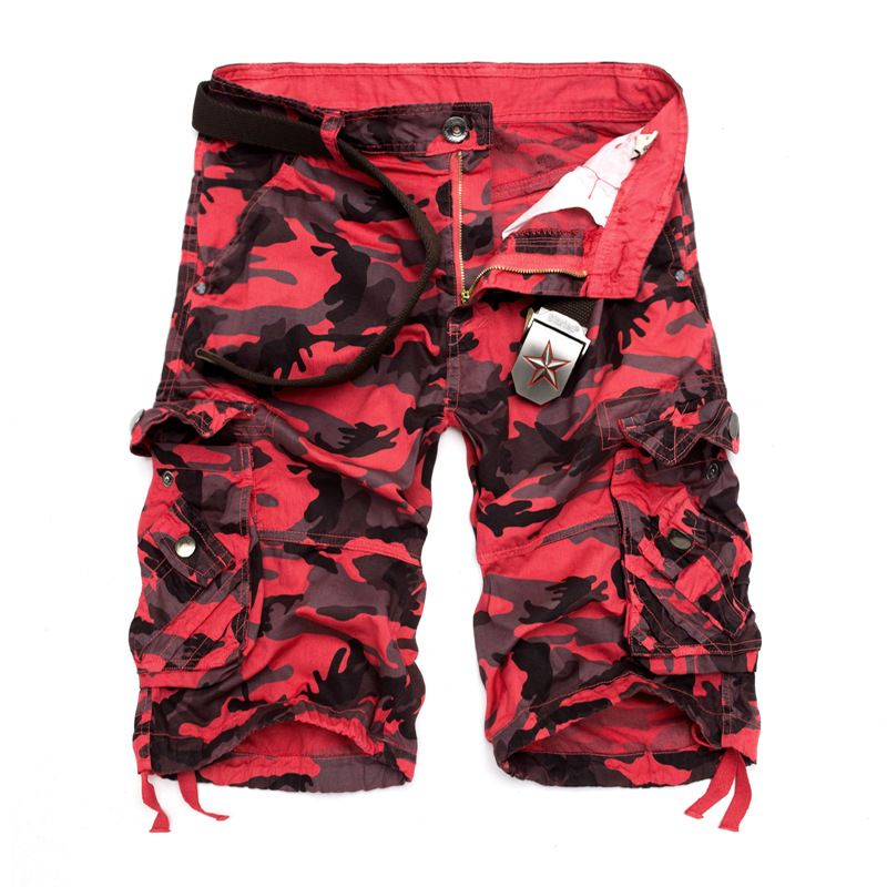 US Size <font><b>2018</b></font> New Camouflage Loose Cargo Shorts Men Cool Summer Military Camo Short Pants Homme Cargo Shorts