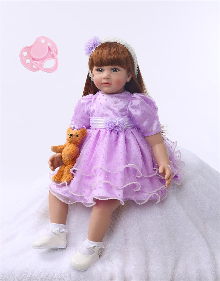 Silicone Reborn Baby Doll Toys 60cm Princess Toddler Dolls Birthday Present Gift Girls Brinquedos Dolls Limited Collection