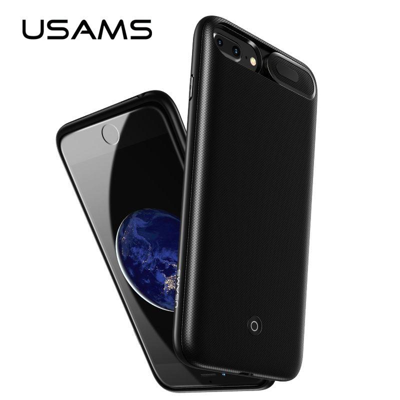 Für iPhone 6 6 s 7 8 Plus Power Bank Fall USAMS Batterie Ladegerät Fall Externe Pack Backup Tragbare ladegerät fall 3000/4200 mah