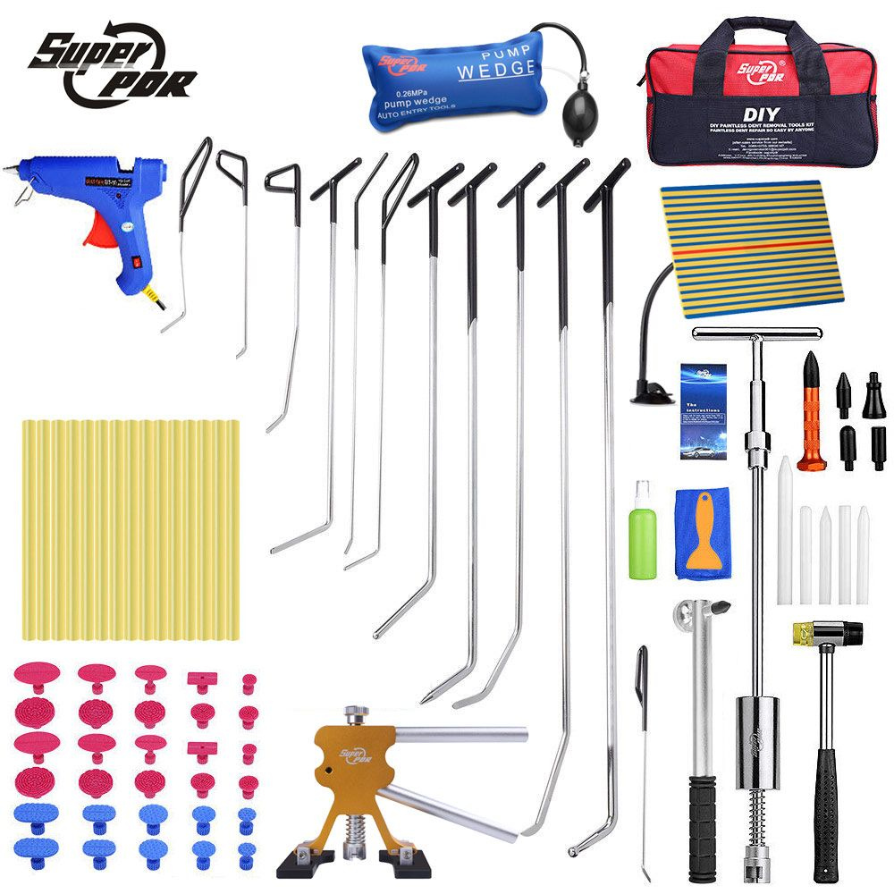 Super PDR Hooks Push Rods Reflector Board Tools dent lifter dent puller For Dent Removal Car Dent Repair Hail Damage Repair