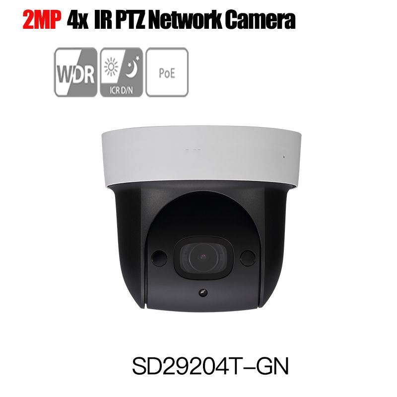 Dahua 1080P PTZ IP camera SD29204T-GN 4x Built-in Mic onvif poe 2Mp Network PTZ IP Speed Dome Camera DH-SD29204T-GN WDR IR 30m