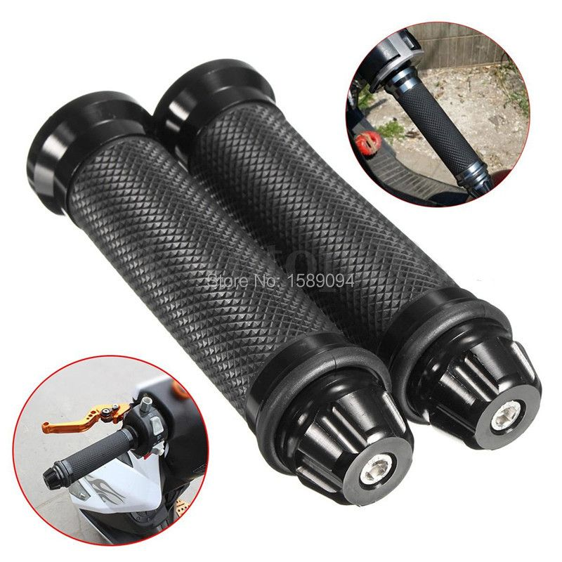 Universal Rubber Porous Carved Motorcycle Handle grips Monster For Dirt Bike Pit Bike  Motocross Handle Grips 6 Colors