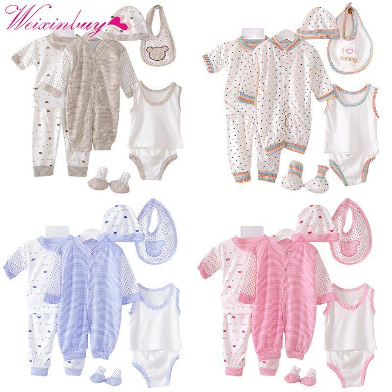 0-3 M nouveau-né bébé vêtements ensemble 100% coton automne 8 pièces/ensemble infantile bébé vêtements ensemble bébé garçon/fille vêtements à pois sous-vêtements