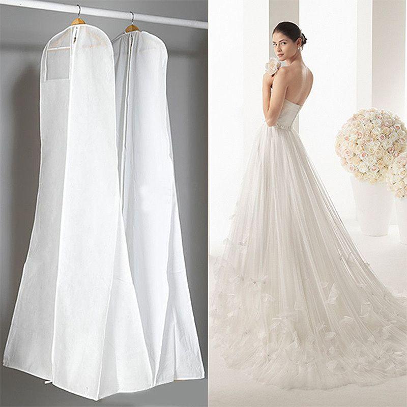 Черный, белый цвет свадебное платье обложка люкс одежда длинная одежда Водонепроницаемый пылезащитный мешок для хранения для протестовали...