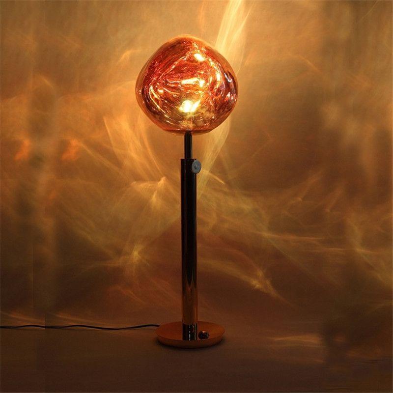 Creative personality Tom DIXON living room bedroom bedside model room irregular shape plating lava decorative floor lamp