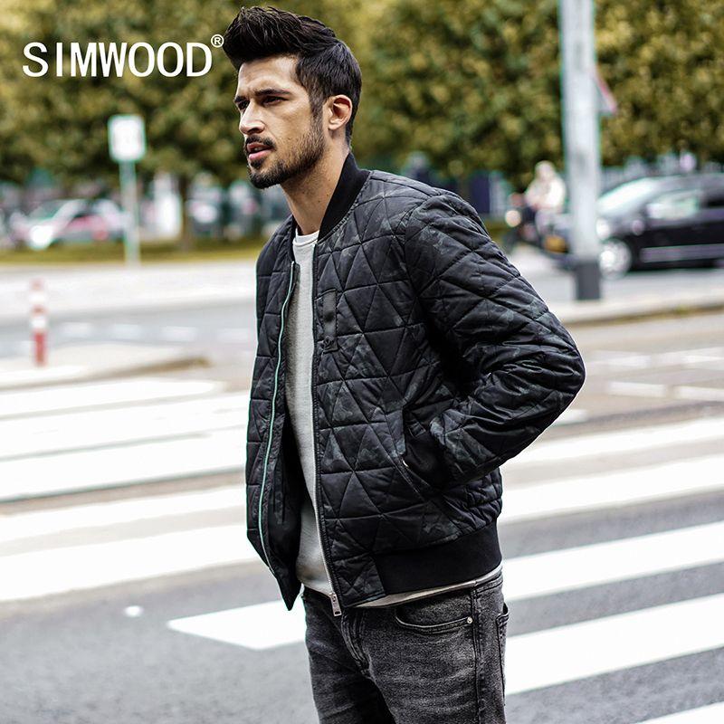 SIMWOOD Wadded Jacket Coats Mens New Winter Fashion Coats Vintage Warm Parkas Men Warm Slim Fit Camouflage Clothing MD017004