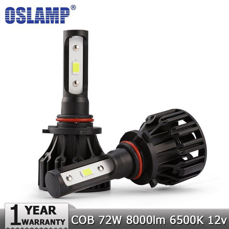 Oslamp COB H7 H11 H1 H3 9005 HB3 9006 HB4 Car LED Headlight Bulbs Hi-Lo Beam 8000lm 6500K Auto Headlamp Fog Light Lamps 12v 24v