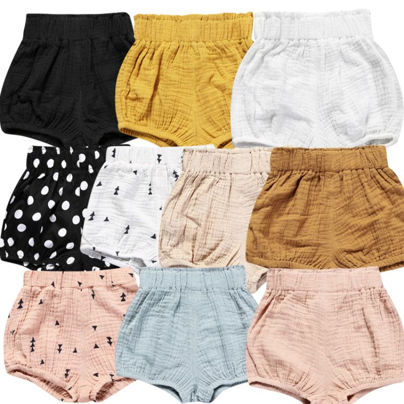 2017 HOT Sale Newborn Baby bloomers Pure Color Baby Girls Shorts Summer Trousers PP Pants CT005