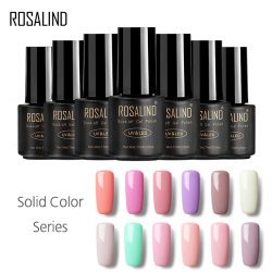 ROSALIND Gel 1 laque Gel Vernis 7 ml 58 Couleur Long-Durable Nail Art Vernis Semi Permanent Manucure Tremper -Off Gel Vernis À Ongles