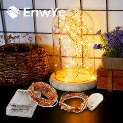Enwye 3XAA Батарея 2 м 10 м 100 светодио дный строка огни на Рождество гирлянды вечерние Свадебные украшения Рождественские Flasher гирляндой
