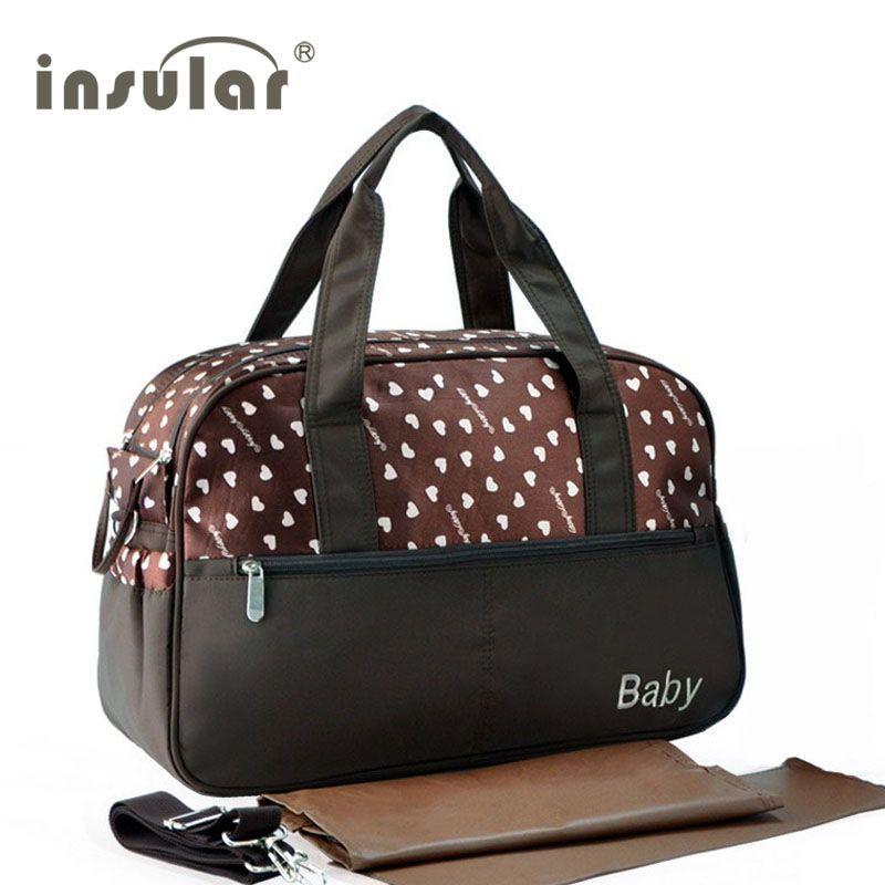 Sacs à couches multifonctionnels isolants sac à main de maternité momie sac de poussette de soins de bébé sacs à couches de grande capacité mère Messenger