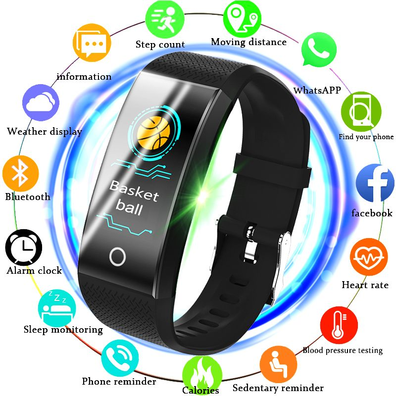 BANGWEI montre intelligente de fitness homme femme Podomètre moniteur de fréquence cardiaque Étanche IP67 de Course montre de sport Pour Android IOS